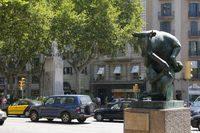 Скульптуры на бульваре Каталония