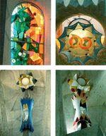 - внутри храма Саграды Фамилии