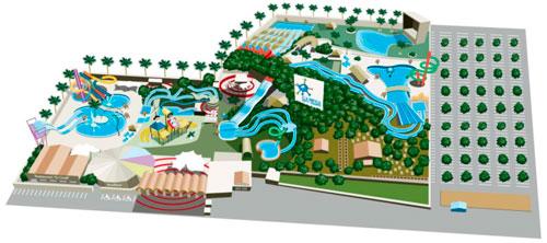 мини карта Остров фантазия в Барселоне Аквапарк – ILLA FANTASIA