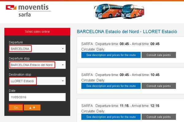 Как доехать из Барселоны в Ллорет де Мар - 3