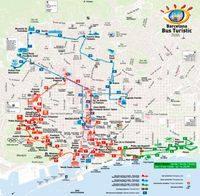 Карта Барселоны Bus Turistic
